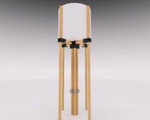 陶器の植木鉢木製スタンド芯有