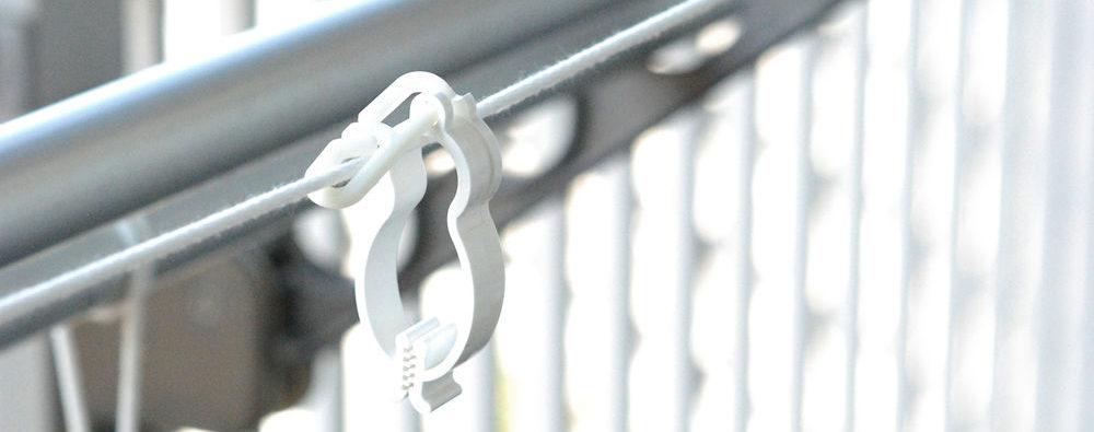 洗濯クリップ ロープ応用1